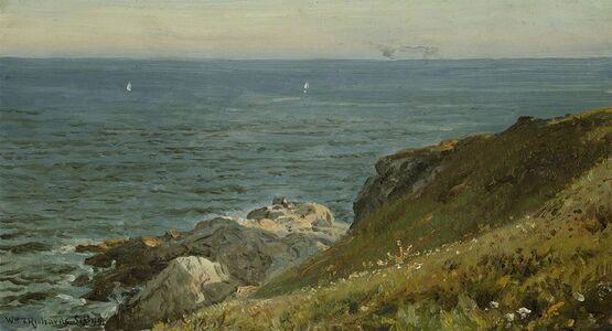 William Trost Richards, 'Conanicut Cliffs', 1899
