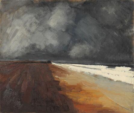 William Tillyer, 'Beach and Sea Seaton Carew', 1956