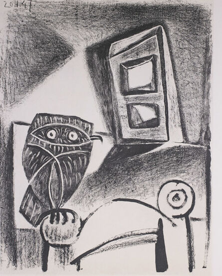 Pablo Picasso, 'Hibou a La Chaise (Owl in the Chair), 1949 Limited edition Lithograph by Pablo Picasso', 1949