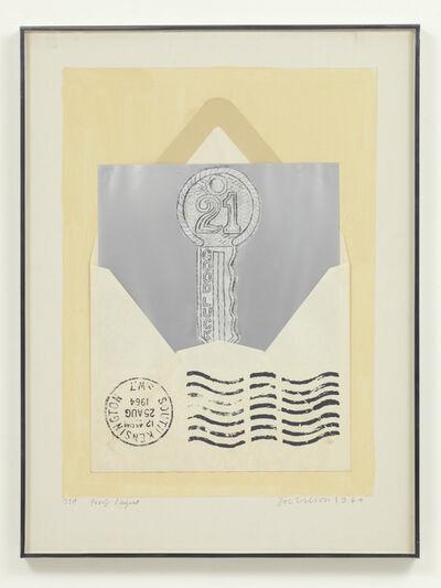 Joe Tilson, '21st (layout proof)', 1964