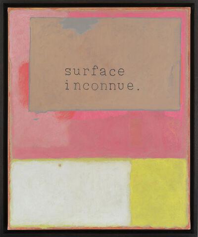 Jean-Michel Alberola, 'Unknown surface', 2020
