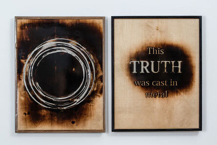 Guy Zagursky, 'This Truth was cast in metal (diptych)', 2020