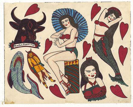 Rosie Camanga, 'Untitled (Mermaid Pinup Bull Head)', 1950-1980