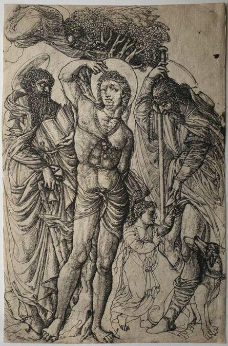 Jean Duvet, 'Saints Sebastian, Anthony, and Roch', 1550-1555