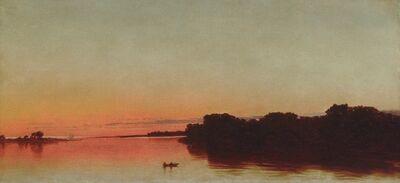 John Frederick Kensett, 'Twilight on the Sound, Darien, Connecticut', 1872
