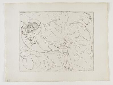 Pablo Picasso, ''Flûtiste et trois Femmes nues' from the 'Suite Vollard'', 1932