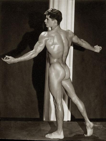 """Bob Mizer, 'Forrester Millard, Age 17, 5'7"""", 135 lbs', 1947"""