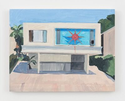 Jean-Philippe Delhomme, 'House with red sun', 2019