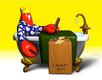 Philip Colbert, 'THE DEATH OF MARAT & THE BIRTH OF THE LOBSTER', 2020