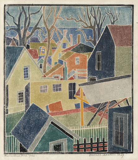 Blanche Lazzell, 'Provincetown Back Yards.', 1927