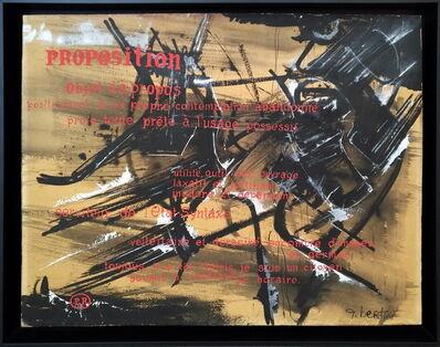 Gianni Bertini, 'Proposition', 1950-1955