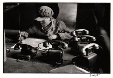 Marc Riboud, 'The five telephones, Anshan.', 1957