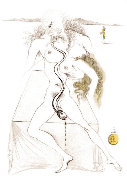 Salvador Dalí, 'Nude Couple, Large Serpent', 1967