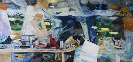 Geneviève Morin, 'Mon pere 2017 / Oel auf Jute 120 x 250 cm', 2017