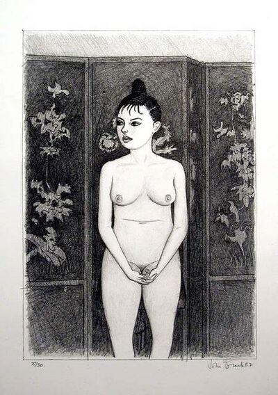John Brack, '(Standing Nude, with screen)', 1982
