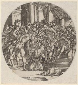 Domenico Campagnola, 'Beheading of Saint Catherine', 1517