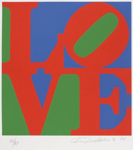 Robert Indiana, 'Love (Green, Red, Blue) ', 1996