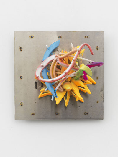 Frank Stella, 'Botanical Star on Stainless Background', 2018
