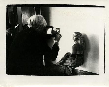 Andy Warhol, 'Andy Warhol, Photograph with Farrah Fawcett Majors at The Factory, 1979', ca. 1979