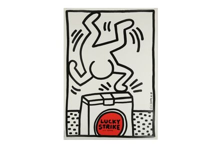 Keith Haring, 'Lucky Strike It's Toasted (White)'