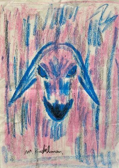 Menashe Kadishman, 'Pink and Blue Goat', Late 20th century
