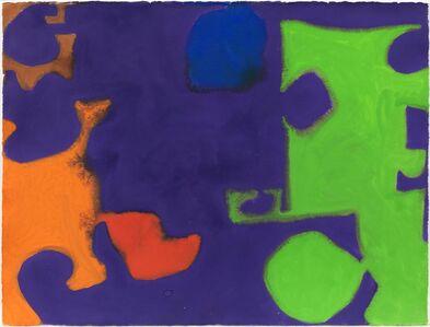 Patrick Heron, 'Complex Emerald, Violet, Orange, Red, Blue and Ochre : March 1970', 1970