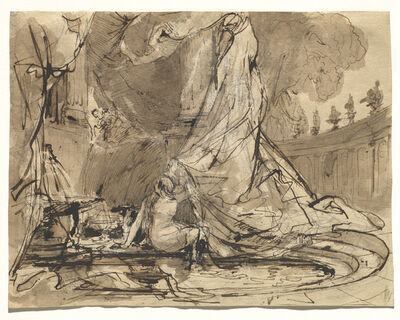 Carl Blechen, 'David and Bathsheba', 1825/1828
