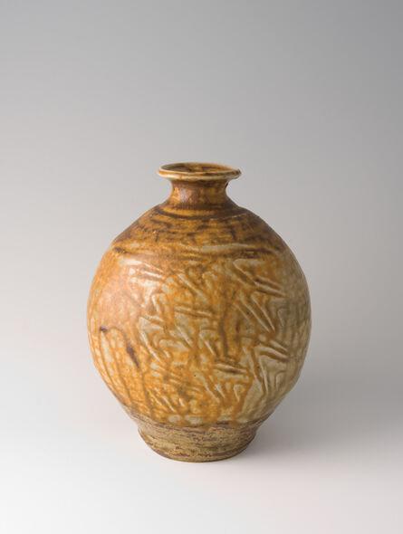 Shōji Hamada, 'Bottle, natural ash glaze', ca. 1950