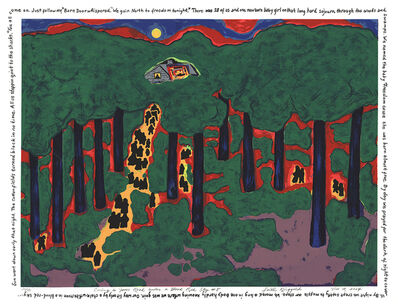 Faith Ringgold, 'Coming to Jones Road Under a Blood Red Sky #5', 2004