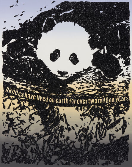 Rob Pruitt, 'Giant Pandas Spend About 12 Hours a Day Eating Up to 15 Kilograms of Bamboo. Bamboo is Rich in Protein as Well as Fibre, Which is Why They Poop Up to 50 Times a Day! Sometimes They Eat and Poop at the Same Time', 2019