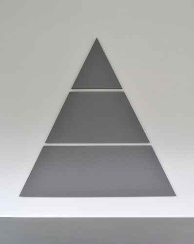 Alan Charlton, 'Divided Triangle Painting', 2015
