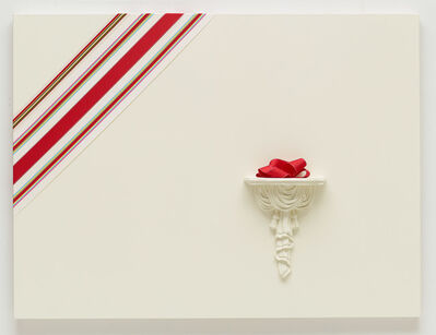 Tricia Wright, 'Interrupted Chevron (Marginalia) A pseudo-formalist painting, in which the', 2014