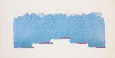 Richard Smith (1931-2016), 'Horizon VI (blue, purple, green)', 1970