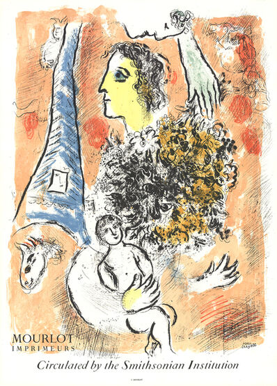 Marc Chagall, 'Offering to the Eiffel Tower', 1964