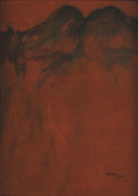 Zaini, 'Moutains in red landscape', 1976