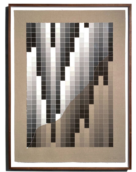 Analía Saban, 'Transcending Pigment from Paint to Canvas, from Canvas to Paint (Black and White)', 2020