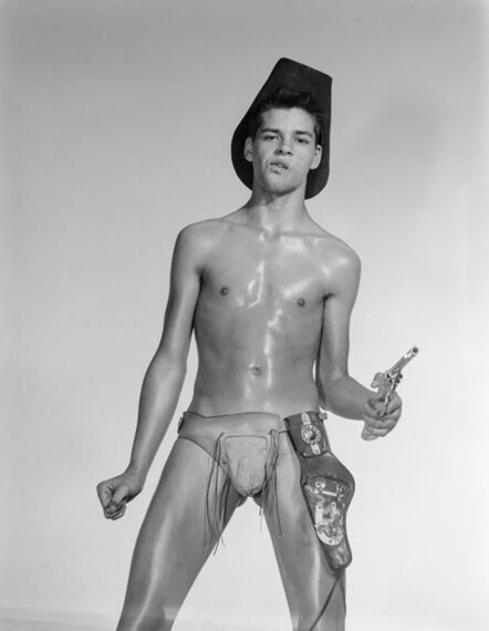 Bob Mizer, 'Jerry Byron Mayberry (with toy pistol), Los Angeles', 1962