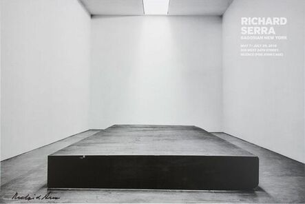 Richard Serra, 'Silence, For John Cage (Hand Signed)', 2016