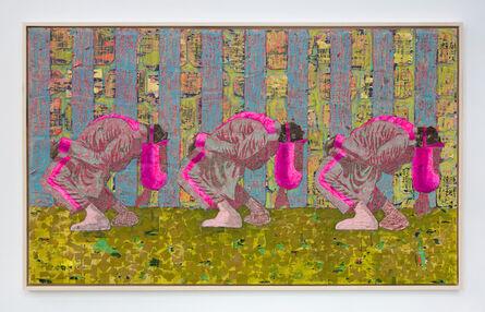 Derek Fordjour, 'Three Bend Deep', 2019