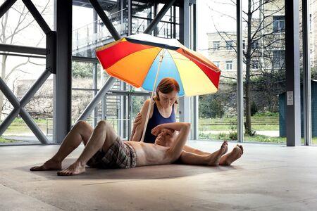 Ron Mueck, 'Couple Under an Umbrella', 2013