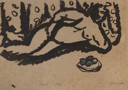 Marc Chagall, 'Nu aux pommes', 1911