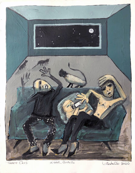 Violet Costello, 'Three Cats (sketch for 'Bringing Home Baby' series)', 2020