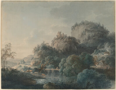Philipp Veith, 'The Ruins of the Monastery of Oybin in the Zittau Mountains', 1792