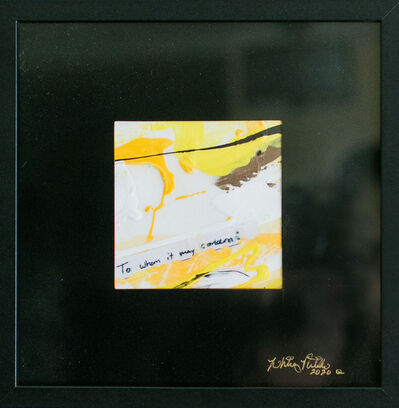 Whitney Pintello, 'She Likes Yellow No. 6- Collaged Contemporary Abstract Painting', 2020