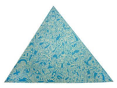 Keith Haring, 'Pyramid (Blue)', 1989