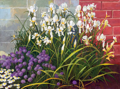 Anne Lyman Powers, 'Iris and Chives'