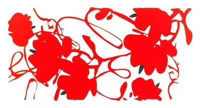 Donald Sultan, 'Lantern Flowers (Red with White)', 2013