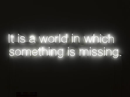 Cerith Wyn  Evans, 'It is a world in which something is missing.', 2012