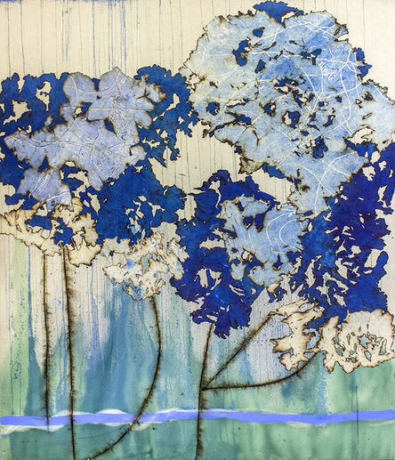 Mira Lehr, 'Blue Peonies', 2019