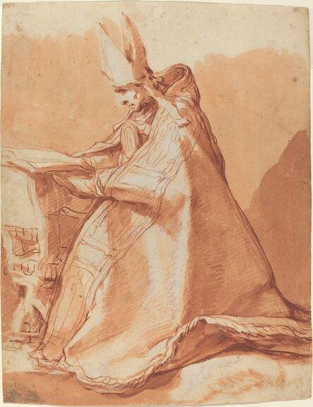 Abraham Bloemaert, 'Seated Bishop'